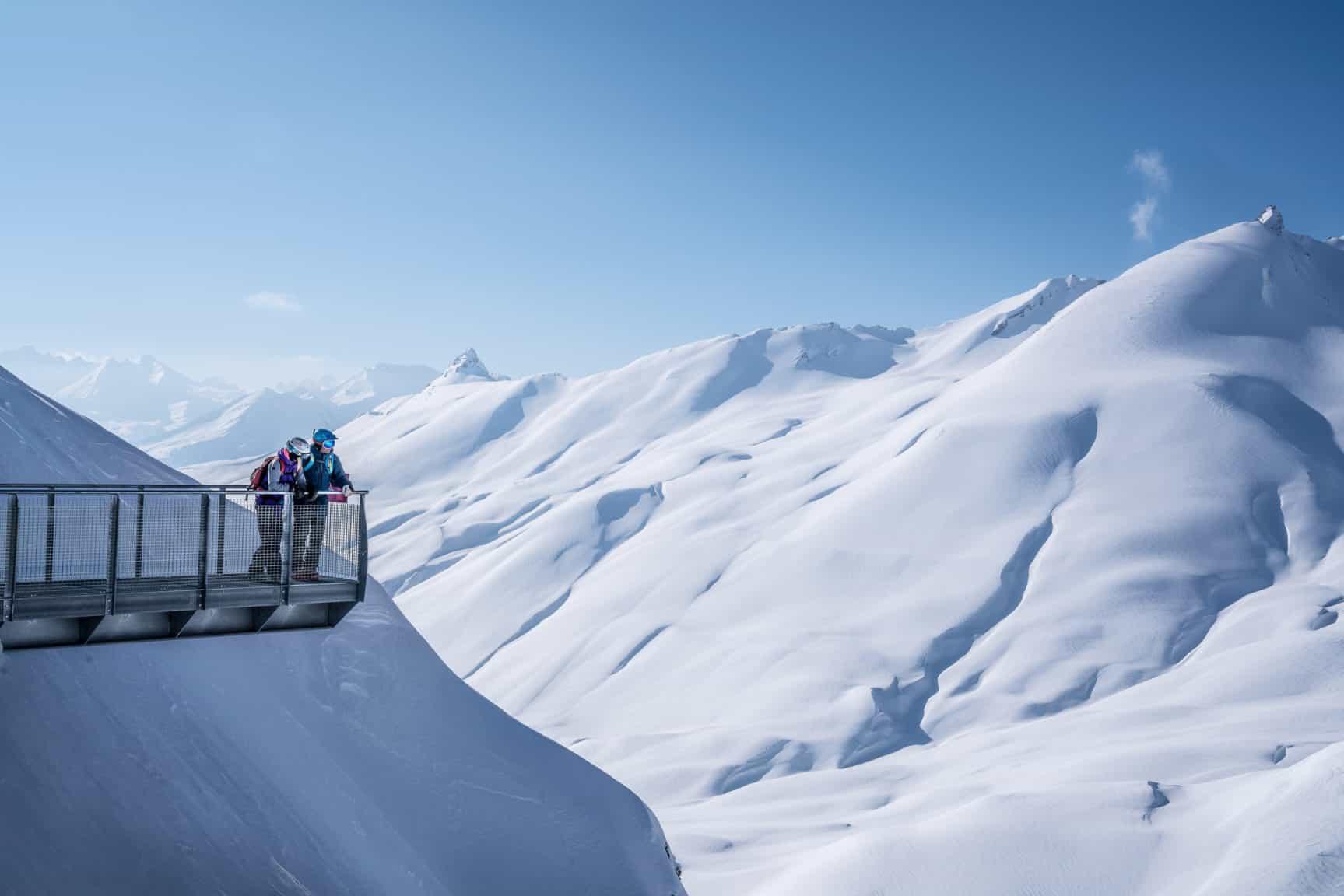 Skier à l'espace San Bernardo