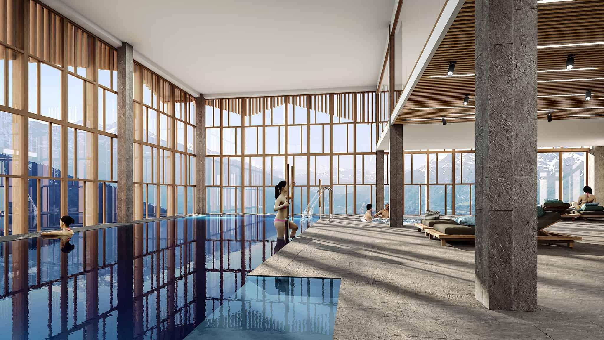Hotel-Alparena-Spa-La-Rosiere-Perspective-Vue_Piscine_V2-2048
