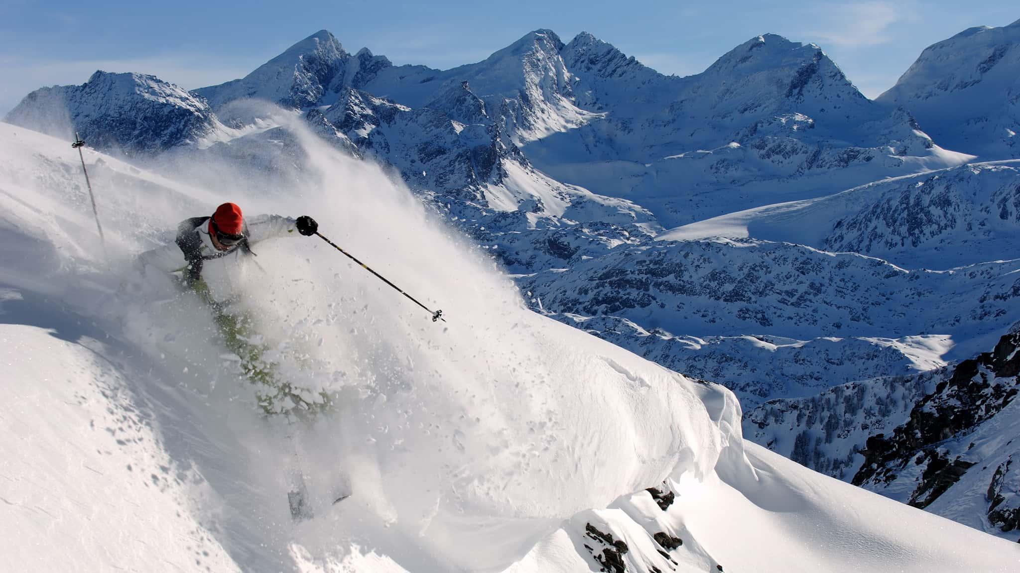 Ski freeride à la Rosière
