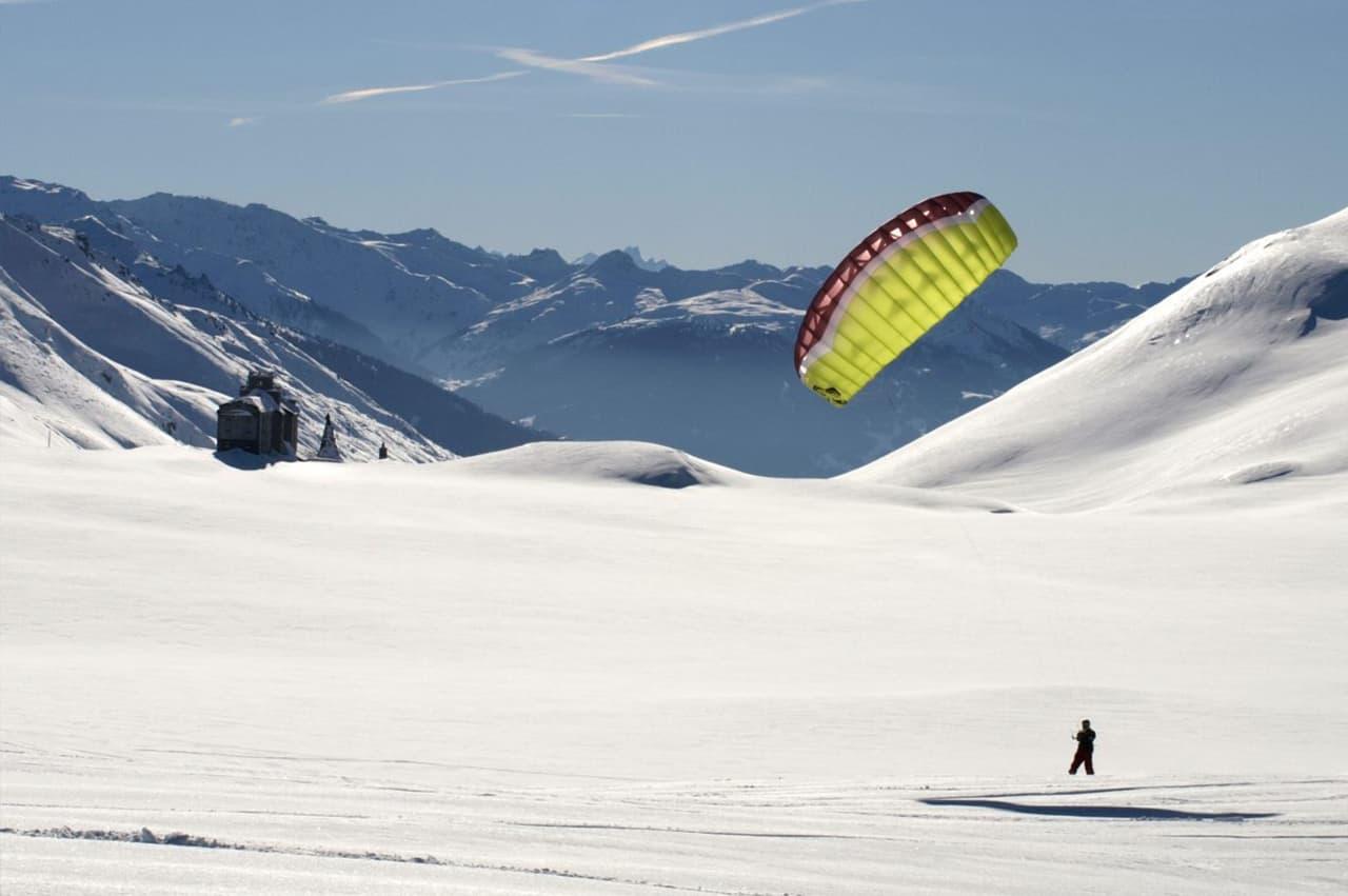 Snowkite à la Rosière
