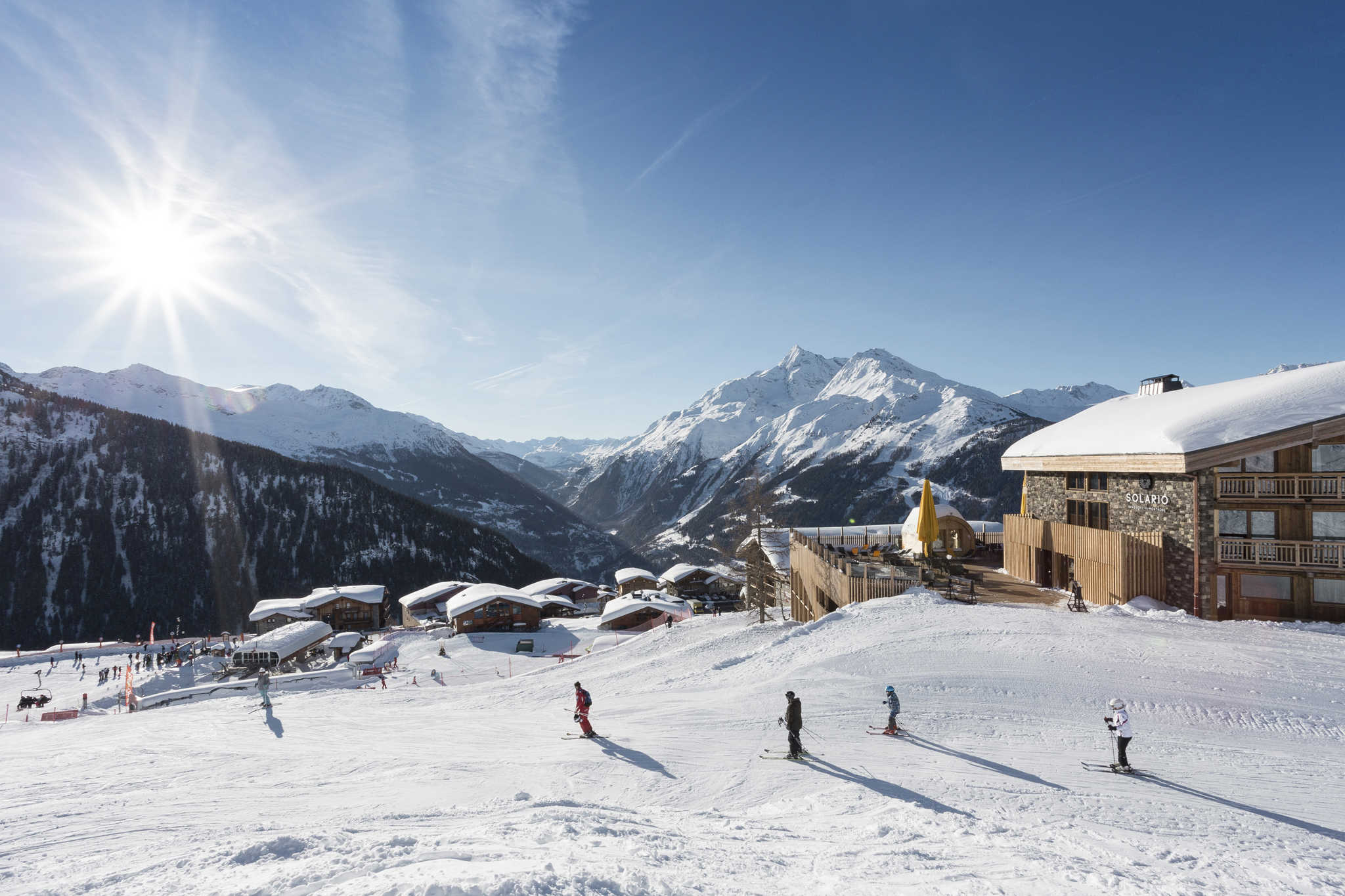 Accès pistes de ski depuis l'Alparena