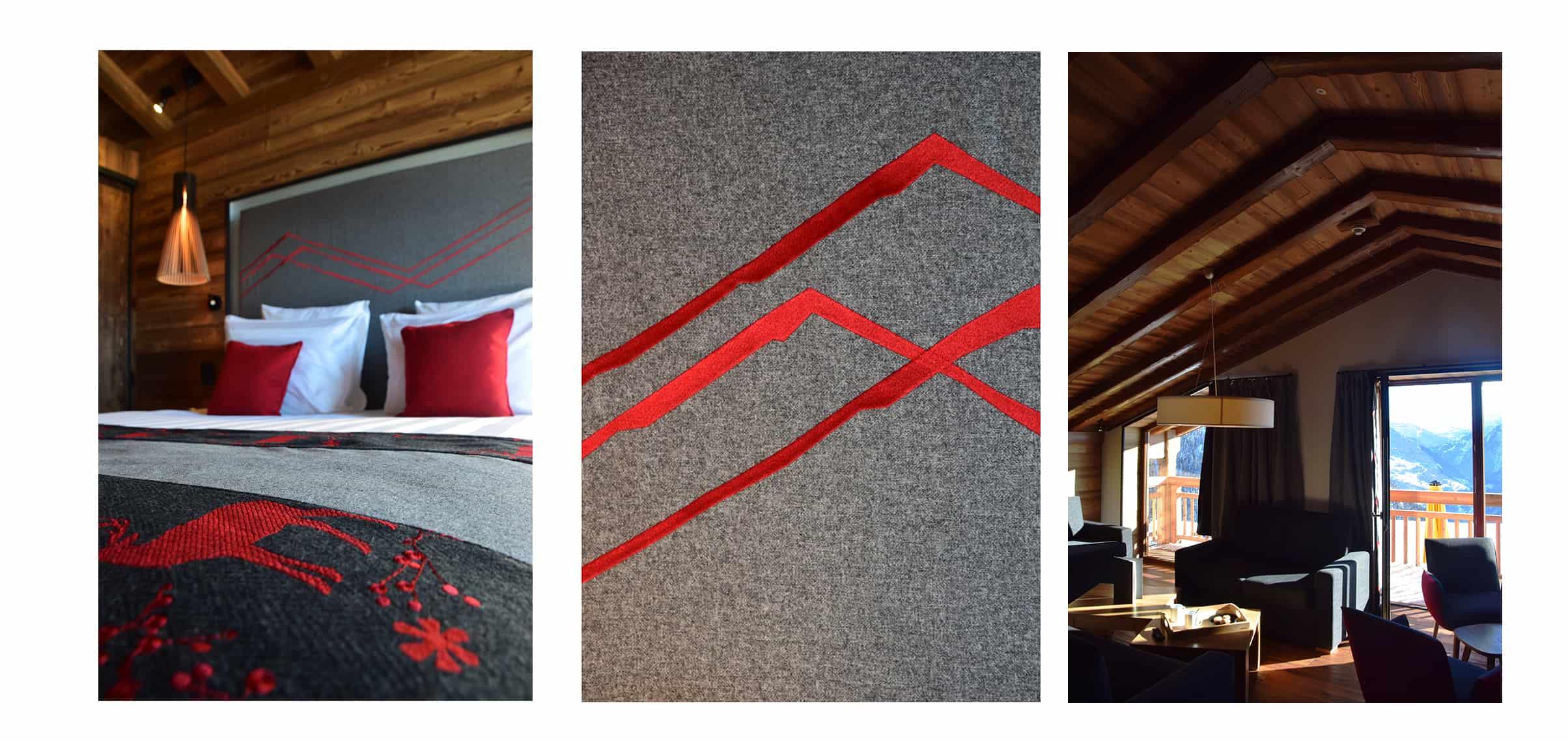 La Rosière Hotel Alparena Chambre rouge