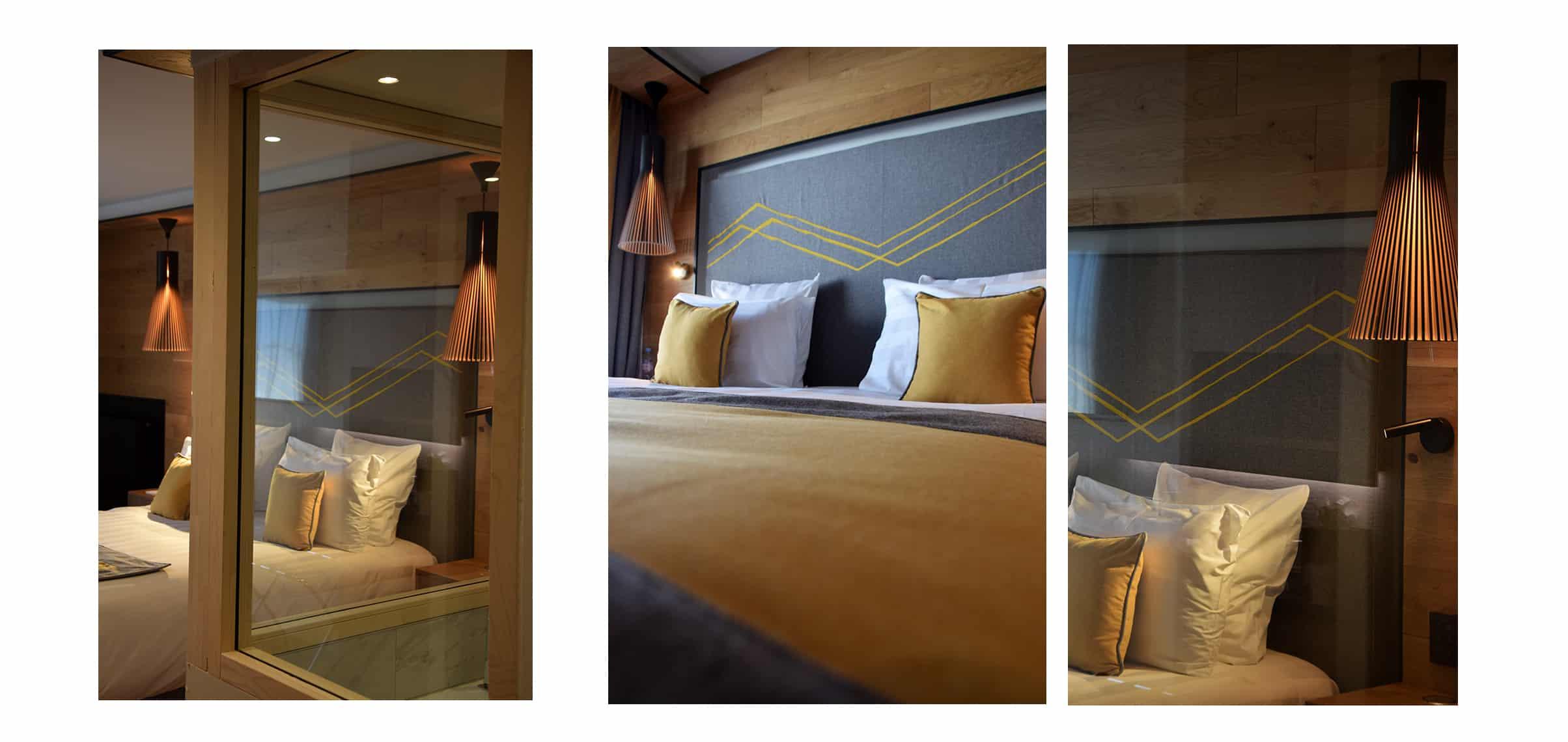La Rosière Hotel Alparena Chambre jaune